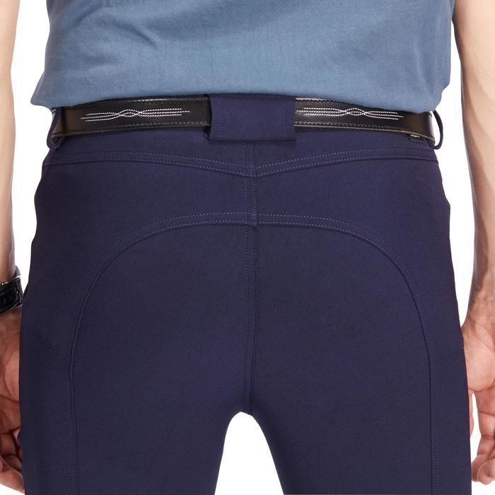 Reithose 500 rutschfester Kniebesatz Herren marineblau