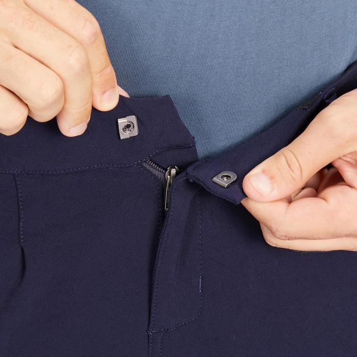 防滑圖騰馬褲500-軍藍色