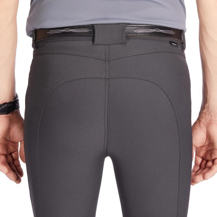 Pantalon équitation homme 500 basanes agrippantes gris foncé