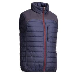 Bodywarmer 500 ruitersport heren marineblauw en bordeaux
