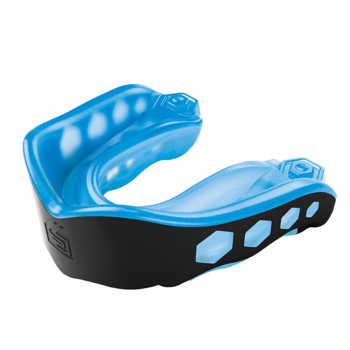 Protector bucal de hockey hierba intensidad alta niños y adultos Gel Max azul