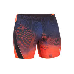 MEN LONG SWIMMING BOXER SHORTS - GRADIANT ORNAGE