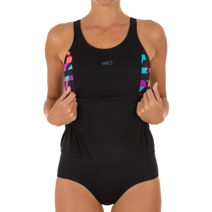 Maillot de bain de natation femme une pièce Vega skirt noir Typ