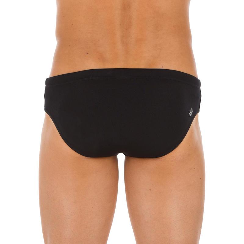กางเกงว่ายน้ำผู้ชายทรงบรีฟรุ่น 900 PLUS (สีดำ)