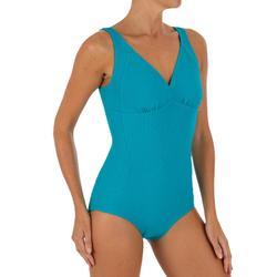 Bañador de natación mujer 1 pieza moldeador Kaipearl New azul