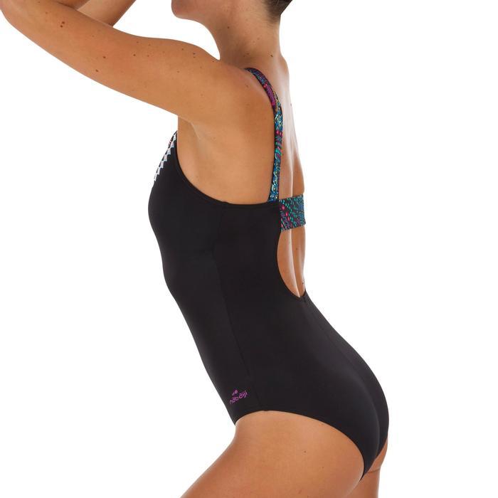 Bañador Natación Piscina Nabaiji Tais Mujer Espalda H Top Incorporado Vintage