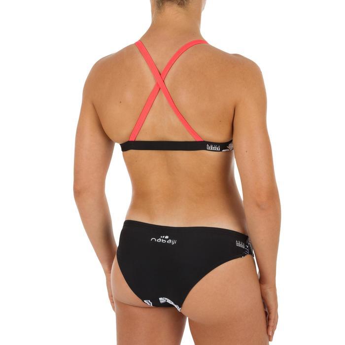 Braga Bikini Natación Piscina Nabaiji Mujer Ultra Resistente Cloro Blanco Negro