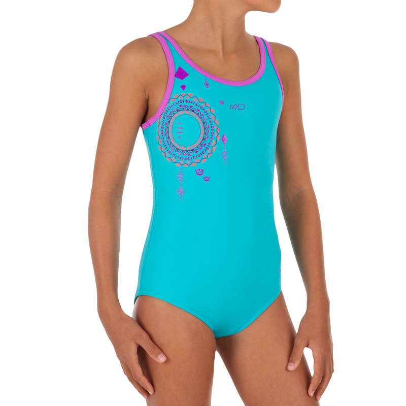 GIRL'S SWIMSUITS Clothing - Blue Heva+ one-piece swimsuit NABAIJI - Swimwear and Beachwear