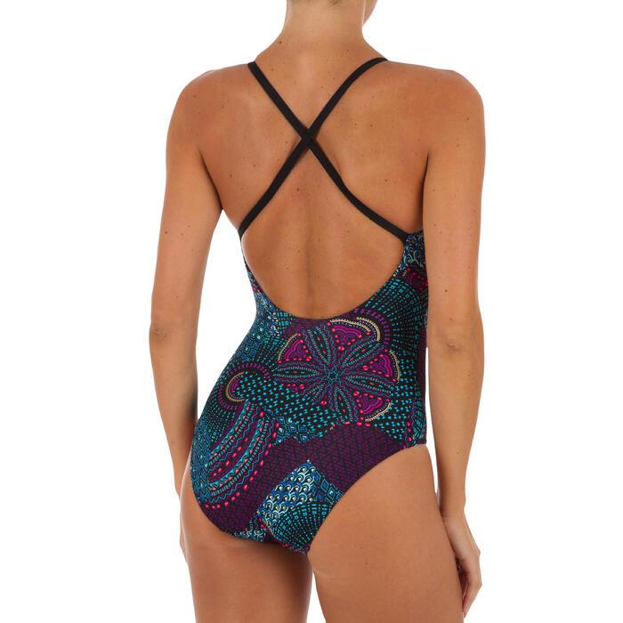 Bañador de natación una pieza mujer Riana Eve nero negro
