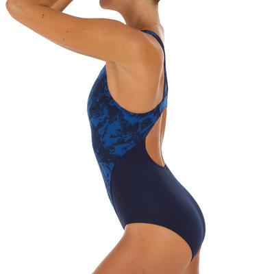 Maillot de bain de natation une pièce femme résistant au chlore Kamiye walo bleu
