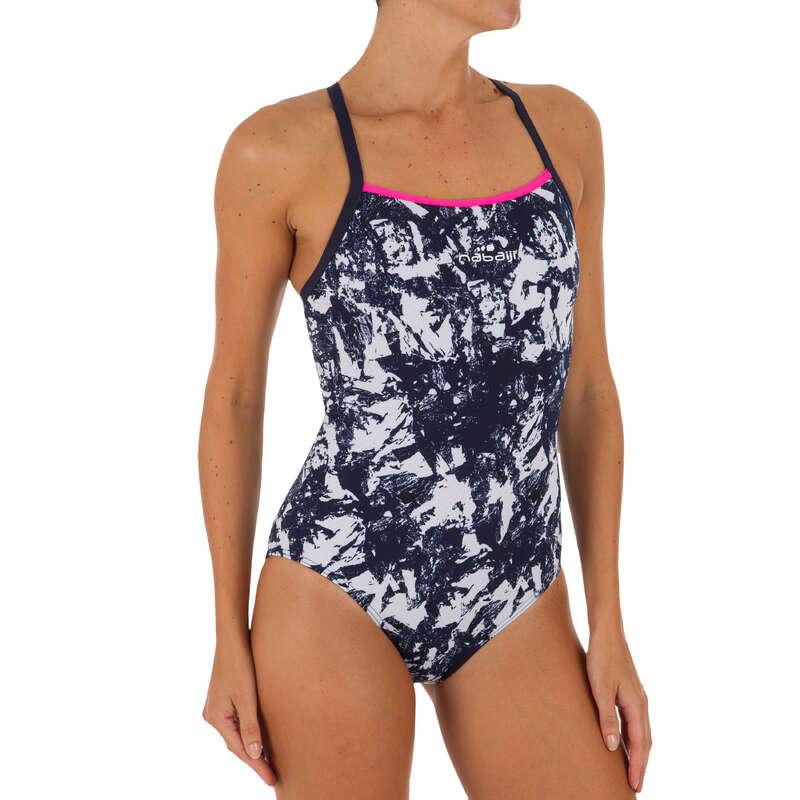 WOMEN'S SWIMSUITS Swimming - JADE 1P SWIMSUIT - WALO WHITE NABAIJI - Swimwear