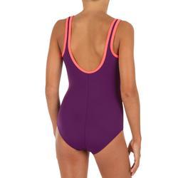 Maillot de bain de natation fille une pièce Heva + Vegi violet