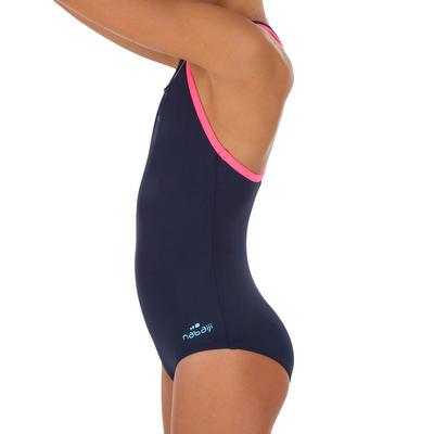Kit de natación Leony +: vestido de baño, gafas, gorro, toalla, mochila.