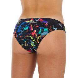 Braga Bikini Natación Piscina Nabaiji Mujer Ultra Resistente Cloro Negro Fluor