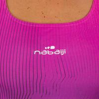 Women's one-piece chlorine-resistant swimsuit Kamiye - Grad Pink