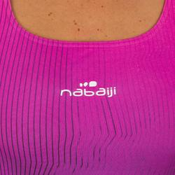 Maillot de bain de natation une pièce femme résistant au chlore Kamiye grad rose