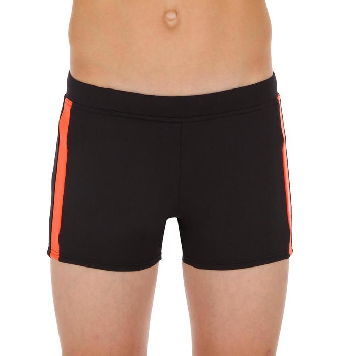 Zwemboxer jongens 500 Yoke Allwalo zwart/oranje