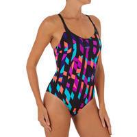 Riana Women's One-Piece Swimsuit Typ Black