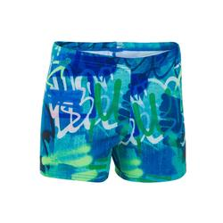 Zwemboxer voor jongens 500 Fit All Tag blauw/groen