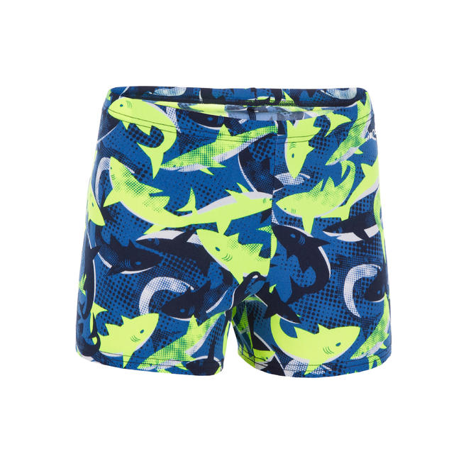 Boys swimming boxer shorts - Printed blue green