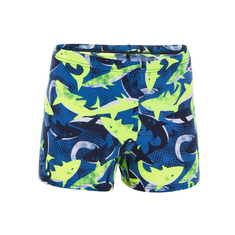 مايوه سباحة للأولاد 500 FIT - أزرق أصفر