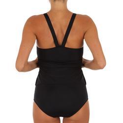 Bañador de natación mujer una pieza Vega faldita Typ negro