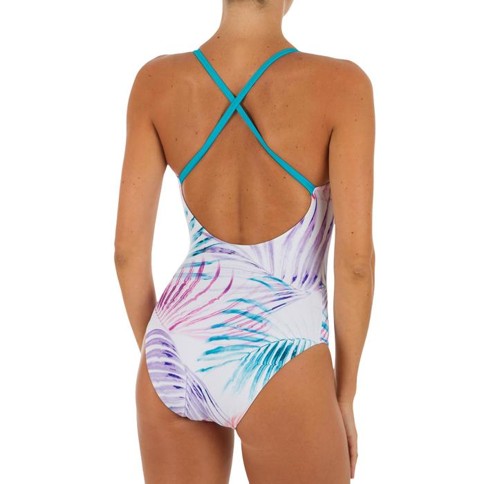 eba3f4c2169 Bañador Natación Piscina Nabaiji Riana Mujer Forma Espalda X Entrenamiento  Blanc