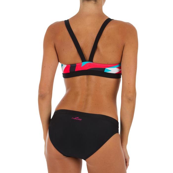 e587c671d4f3 Top Bikini Natación Sujetador Deportivo Nabaiji Vega Mujer Ajustable Negro