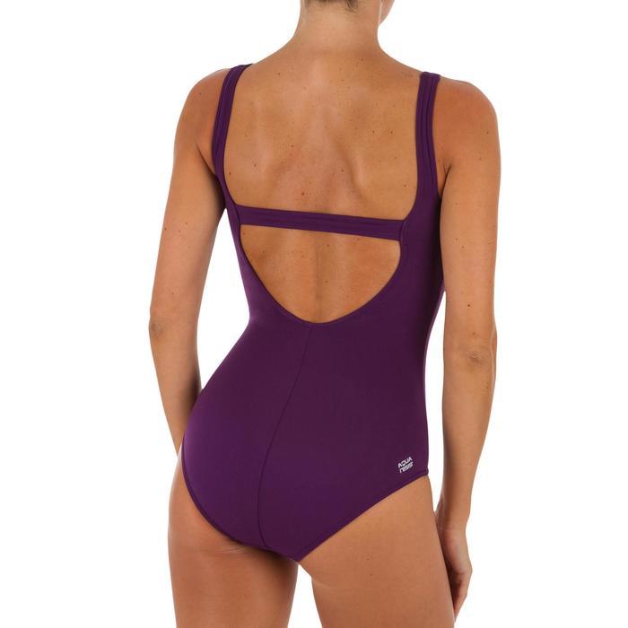 Bañador de natación mujer una pieza Heva+ violeta geo
