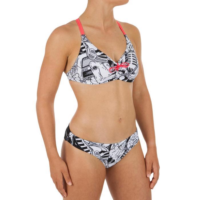 Top Bikini Natación Piscina Nabaiji Jana Rock Mujer Ultra Resistente Rosa Blanco