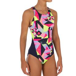 Bañador de natación una pieza niña resistente al cloro Kamiye mur