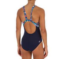 Bañador de natación una pieza niña, resistente al cloro Kamiye roller