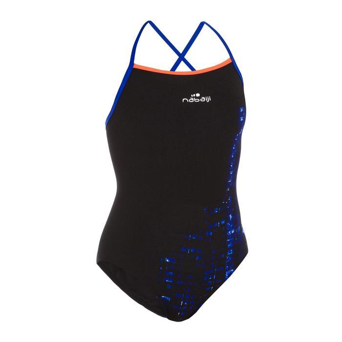 Bañador de natación una pieza mujer resistente al cloro Jade imo negro
