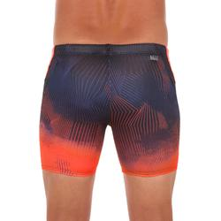 MAILLOT DE BAIN NATATION HOMME BOXER LONG 500 GRAD ORANGE