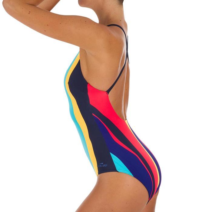 d840ce6ce6b Bañador Natación Piscina Nabaiji Riana Mujer Forma Espalda X Entrenamiento  Azul