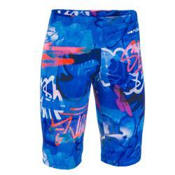 Zwemjammer voor jongens 500 First Alltag oranje blauw