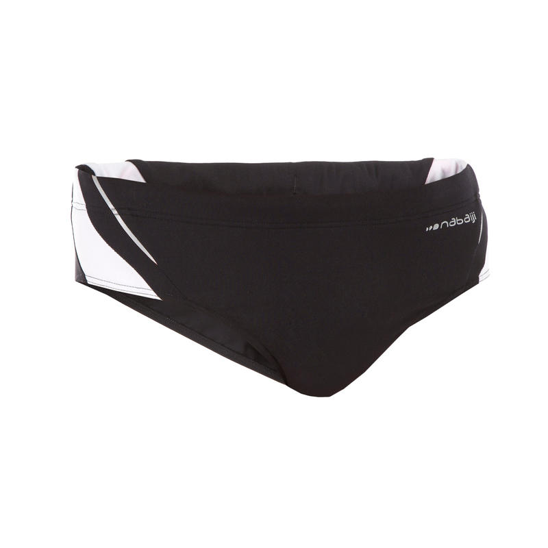 900 YOKE MEN'S SWIMMING BRIEFS - BLACK WHITE