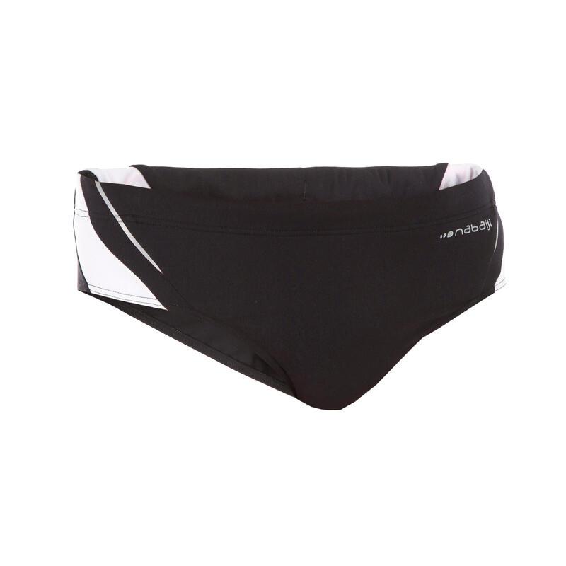 Men's Swimming Trunks 900 - Black White