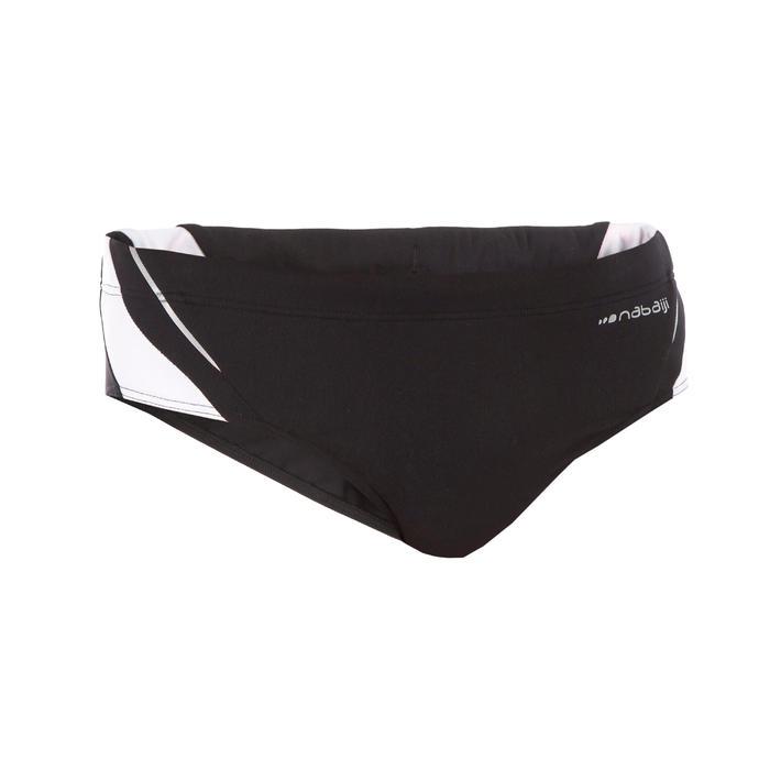 Badeslip Herren 900 Yoke schwarz/weiß