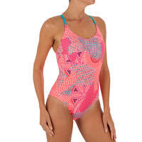 Riana Women's One-Piece Swimsuit - Eve Coral White