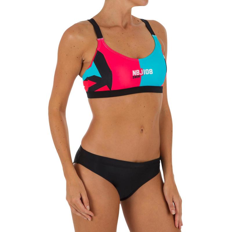 Sujetador de bikini de natación mujer Vega NBJ rojo azul