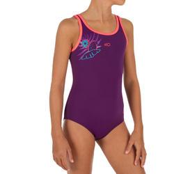 Bañador de natación una pieza niña Heva + Vegi violeta