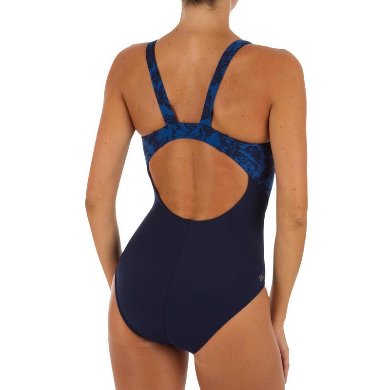 Kamiye Women's One-Piece Chlorine-Resistant Swimsuit - Walo Blue