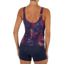 Bañador Completo Camiseta Natación Piscina Nabaiji Mujer Pantalón Corto Piñas