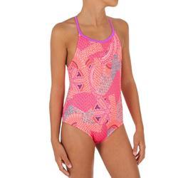 Bañador de natación una pieza niña Riana Eve rojo coral