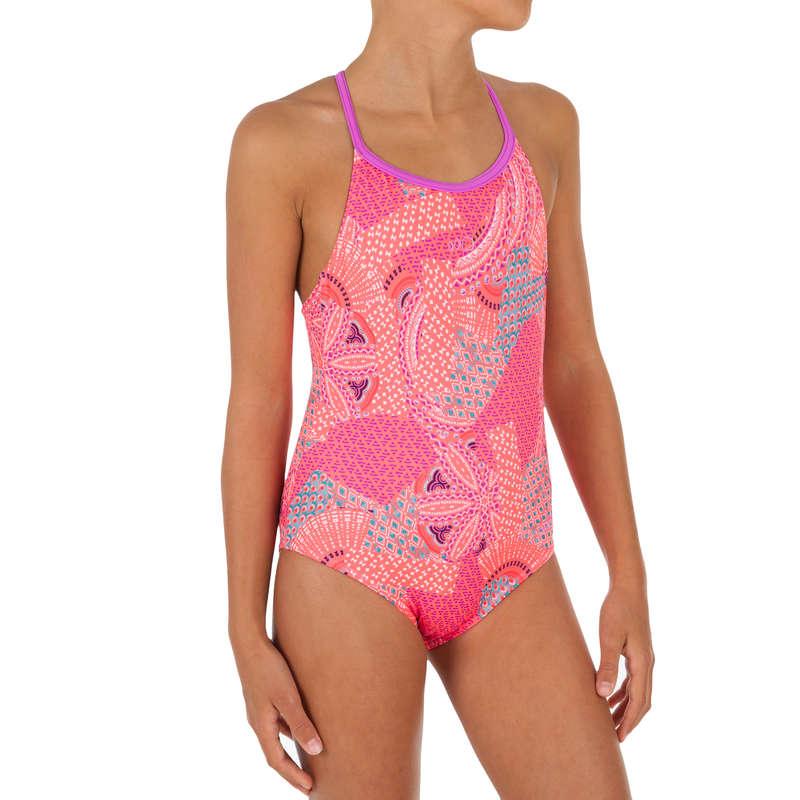 GIRL'S SWIMSUITS Swimwear and Beachwear - Riana 1-Piece Swimsuit - Coral NABAIJI - Swimwear and Beachwear