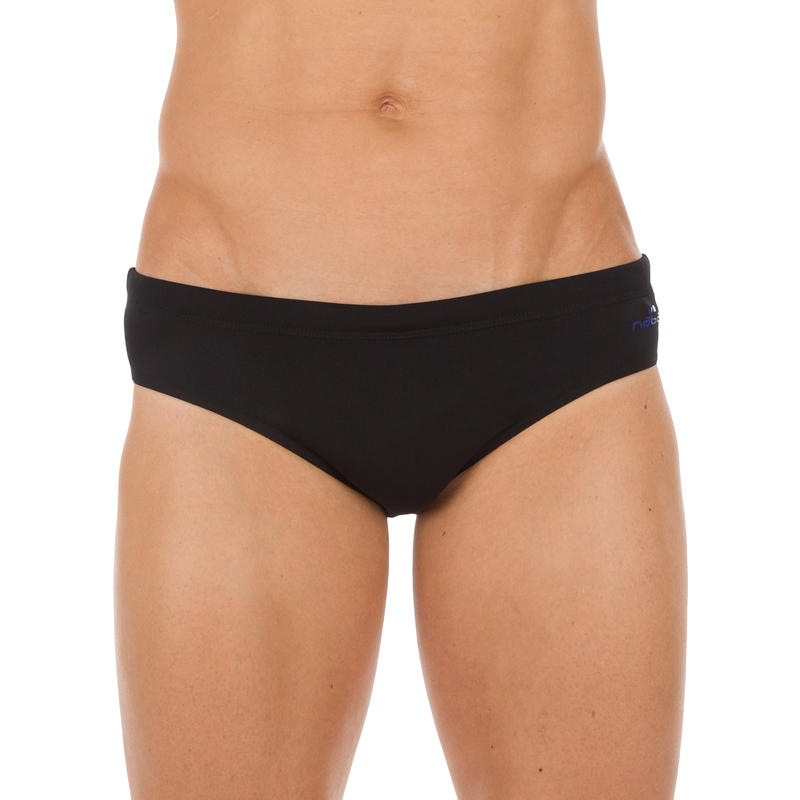 900 PLUS MEN'S SWIMMING BRIEFS - BLACK