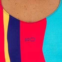 Damesbadpak Riana Reci rood/donkerblauw