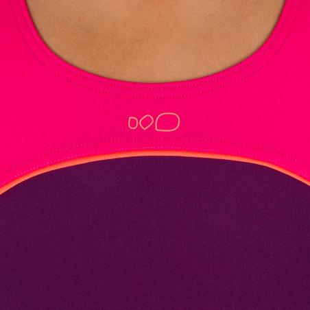 Taïs Girl's One-Piece Swimsuit - Purple Pink