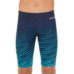 NAVY BLUE 500 BOYS' FIRST NAVY LAY 500 JAMMER SWIMSUIT